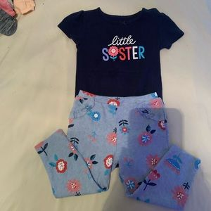 Baby girls carters set